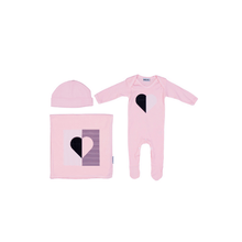 Pink Heart Illusion Layette Set