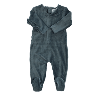Charcoal Rib Wrap Footie