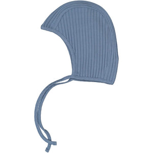 Blue Ribbed Bonnet