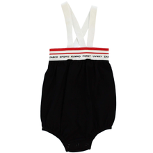 Black Elastic Band Romper