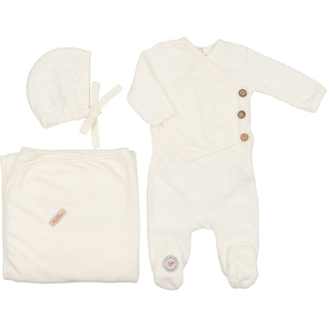 Ivory Victorian Wrap Layette Set