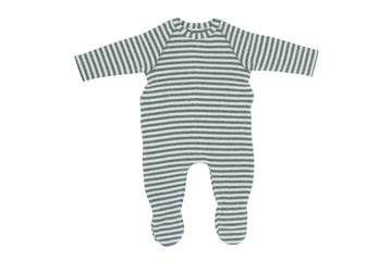 Grey Striped Footie