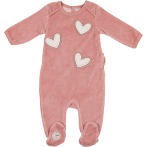 Rose Tan Heart Footie