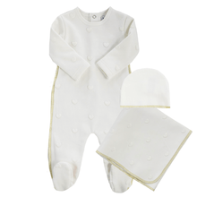 White Heart Embossed Layette Set