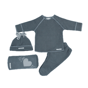4 Piece Grey Adore Baby Set