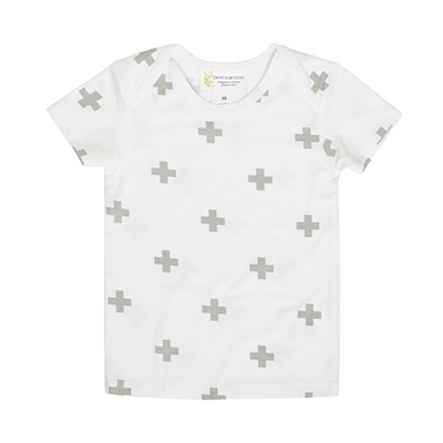 Short Sleeve Top White Cross