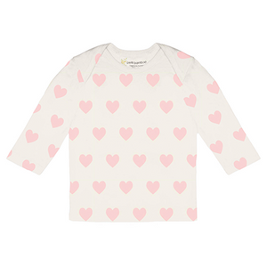 Long Sleeve Top Pink Hearts