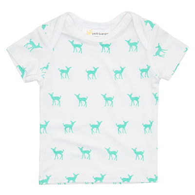 Short Sleeve Top Deer Green