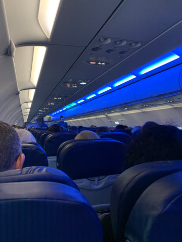 Blue light on aircraft