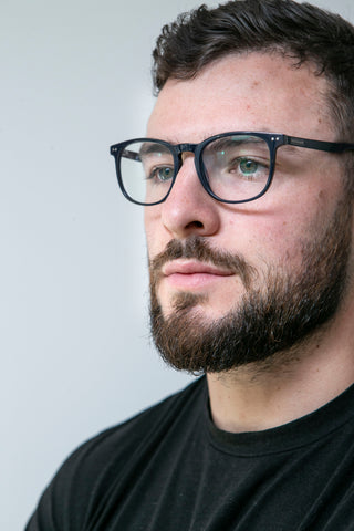 Robbie Henshaw Blue Block Glasses