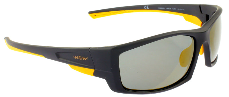 Black and Yellow, Henshaw Hare Island Sport Sunglasses, Henshaw Eyewear, Hare Island Sport Sunglasses, Henshaw Sport Sunglasses, Henshaw Eyewear, Polarised Sport Sunglasses