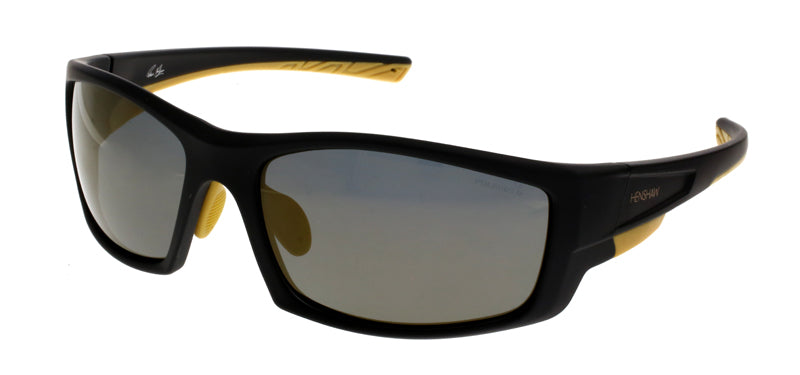 Black and Yellow, Henshaw Hare Island Sport Sunglasses, Henshaw Eyewear, Hare Island Sport Sunglasses, Henshaw Sport Sunglasses, Henshaw Eyewear, Polarized Sport Sunglasses