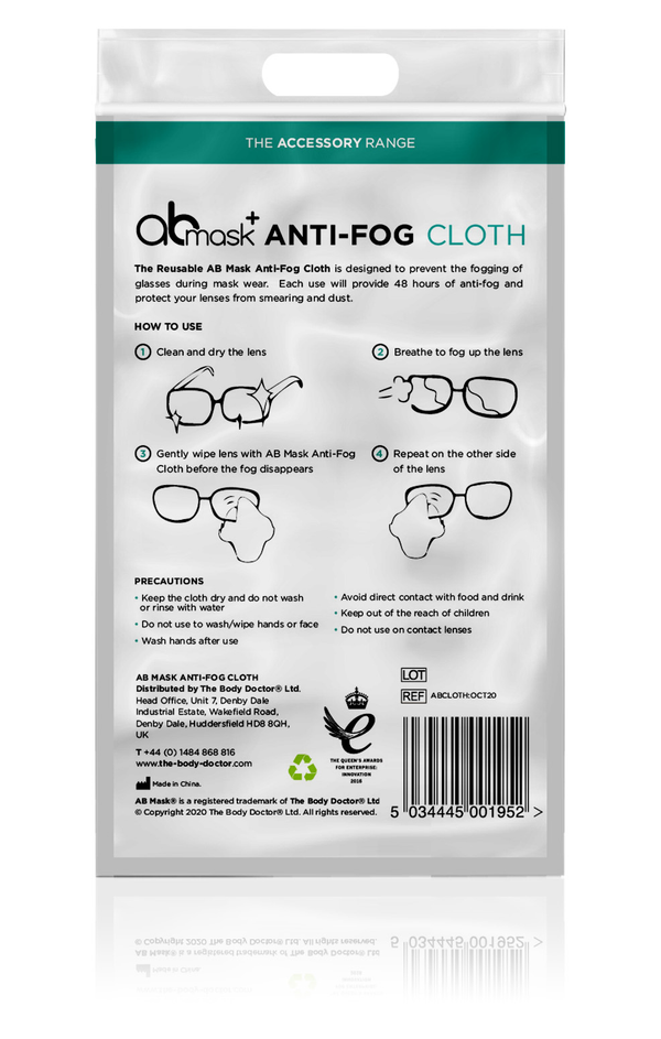 Anti-Fog Reusable Cloth