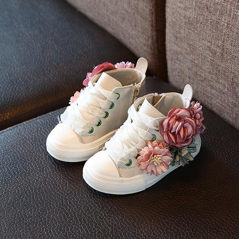 Cupofdeals kids Black / 6.5 Cute Rubber Flower Sneakers for Girls