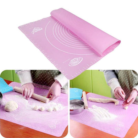 Cupofdeals kitchen gadget 19.68*15.74in-Blue Silicone Baking-Rolling Dough Mat