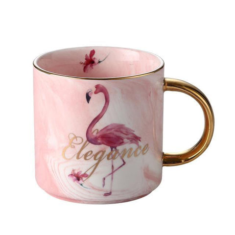 Cupofdeals mug 420ml Flamingo Elegance Coffee Mug