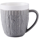 Cupofdeals mug white Retro wool sweater mug