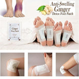 Cupofdeals self care 10Pcs Ginger Detox Foot Patches