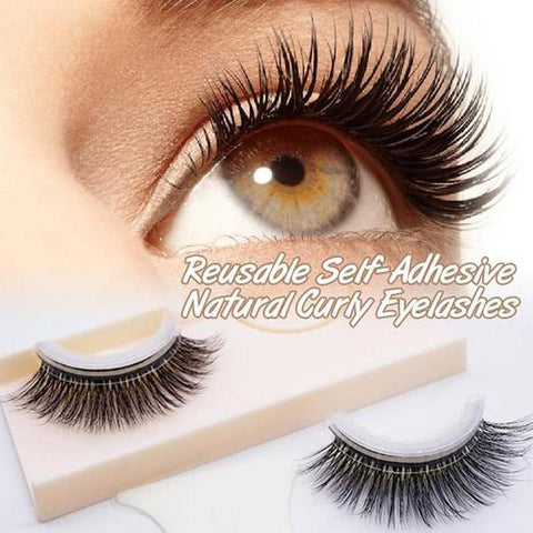 Cupofdeals self care 3D-01 Reusable Self-Adhesive Natural Curly Eyelashes