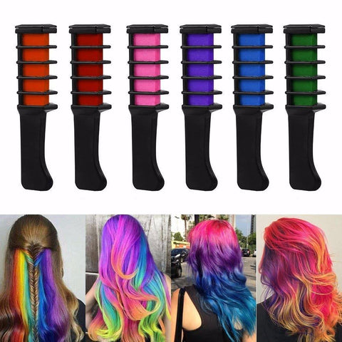 Cupofdeals self care Hair Chalk 6 Pcs Temporary Hair Chalk Comb