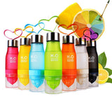 Cupofdeals water bottle 0.65L / White Plastic Fruit infusion bottle