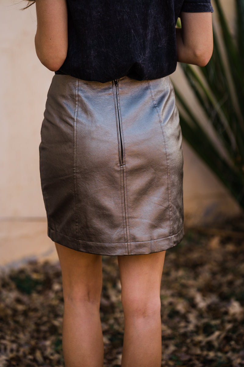 Reverie metallic mini skirt