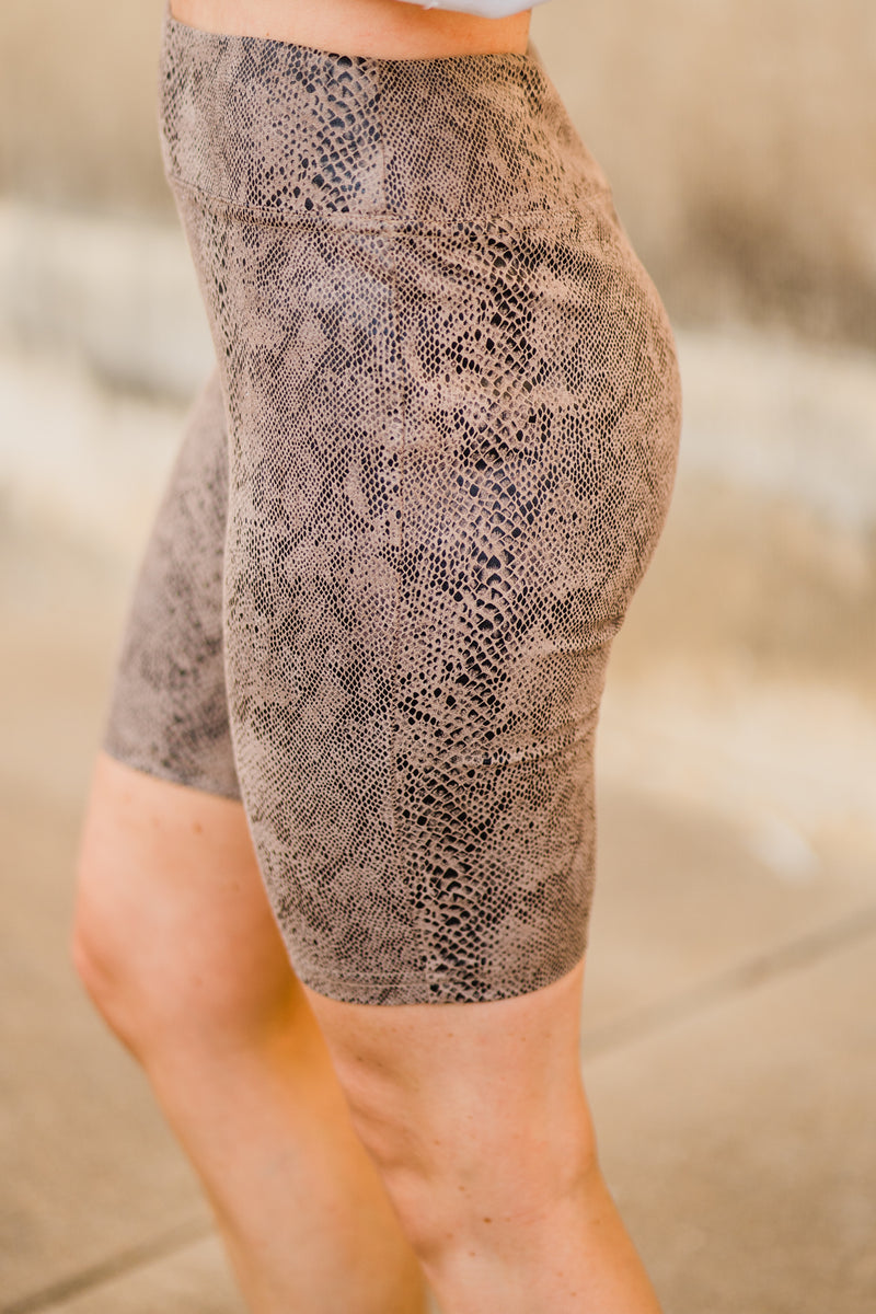 Mohave snake skin bike shorts
