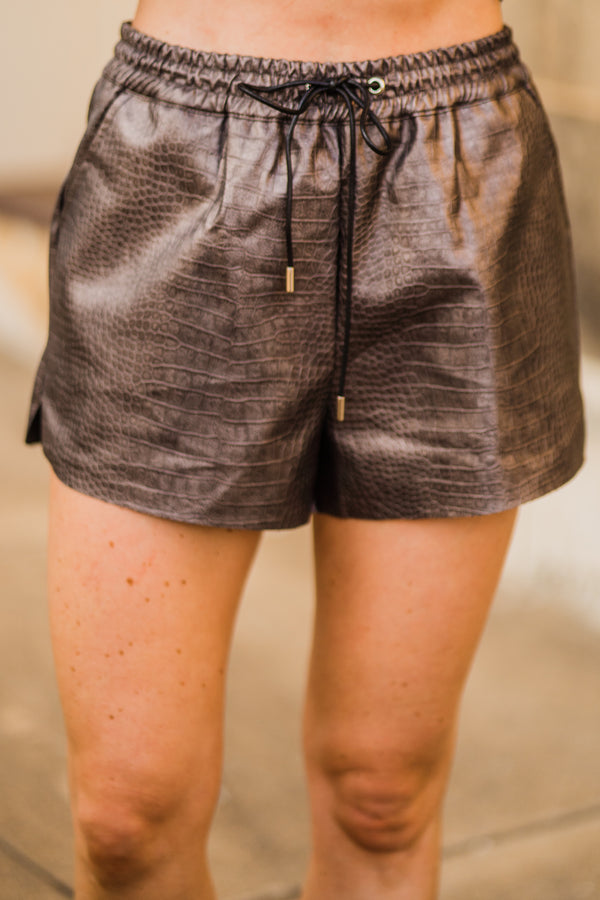 Axle leather shorts