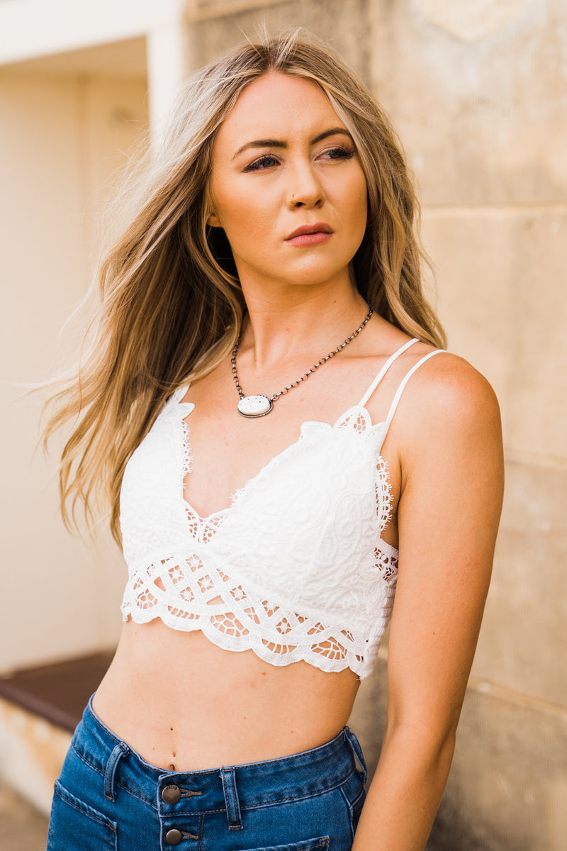 The Jocelyn Bralette - White