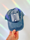 WDW Puff Embroidery Hat Blue