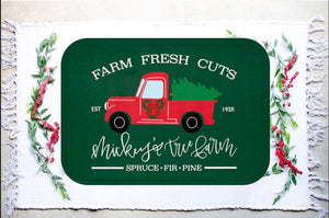 Red Truck Holiday Rug