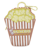 Dumbo Popcorn Bag - Faux Leather Zip Clip Coin Purse
