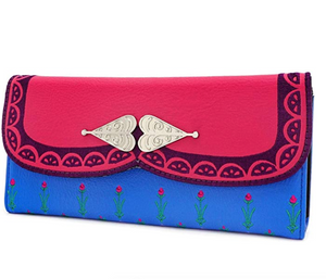 Frozen Anna Trifold Wallet - Disney Loungefly