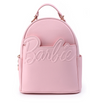 Barbie Logo Rose Gold Chain Strap Convertible Mini Backpack - Loungefly