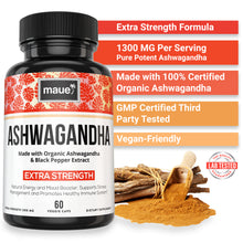 Load image into Gallery viewer, Organic Ashwagandha Capsules