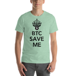 "Mens T-Shirt ""BTC Save Me"""