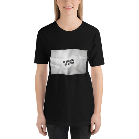 "Womens T-shirt  ""Be different use BTC"""
