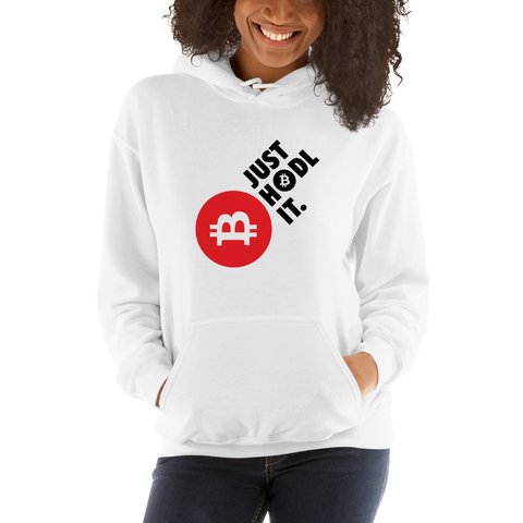 "Womens Hoodie ""Just HODL It"""