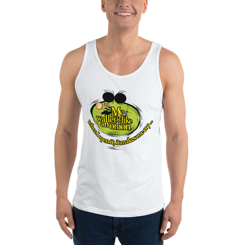 "Mens Tank Top ""My Wallet Is Like An Onion"""