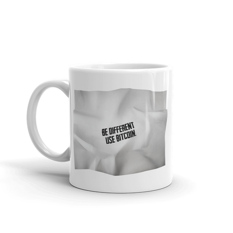 "Coffe Mug ""Be Different Use BTC"""