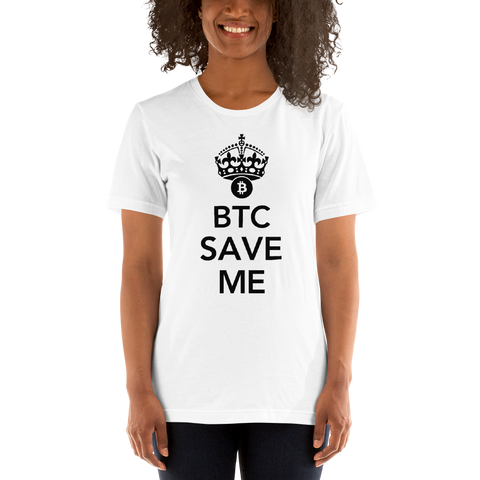 "Womens T-Shirt ""BTC Save me Crown"""