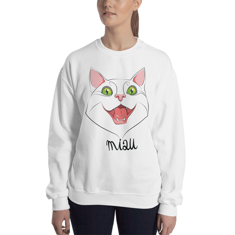 "Womens Sweatshirt ""MIAU CAT"""