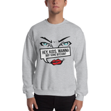 "Mens Sweatshirt ""Hey Kids Want To Buy BTC"""