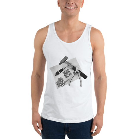 "Mens Tank Top ""Mine Your Own BTC"""