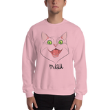 "Mens Sweatshirt ""MIAU CAT"""