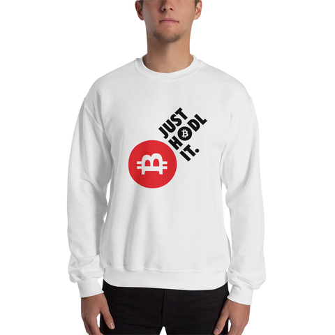 "Mens Sweatshirt ""Just HODL It"""