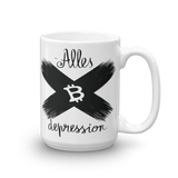 "Coffe Mug ""Alles Depression"""