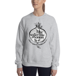 "Womens Sweatshirt ""My Wallet Is Like An Onion BW"""