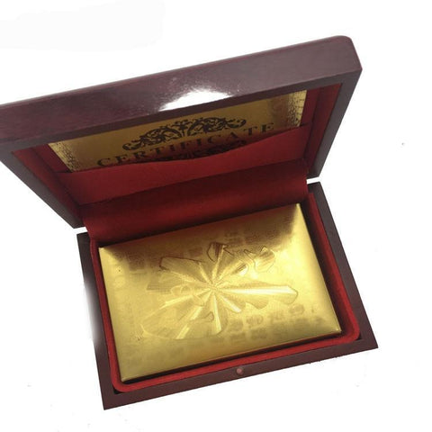 24K Carat Gold Plated PokerPlaying Cards