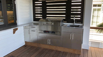 Custom Island with Wilmington Grills